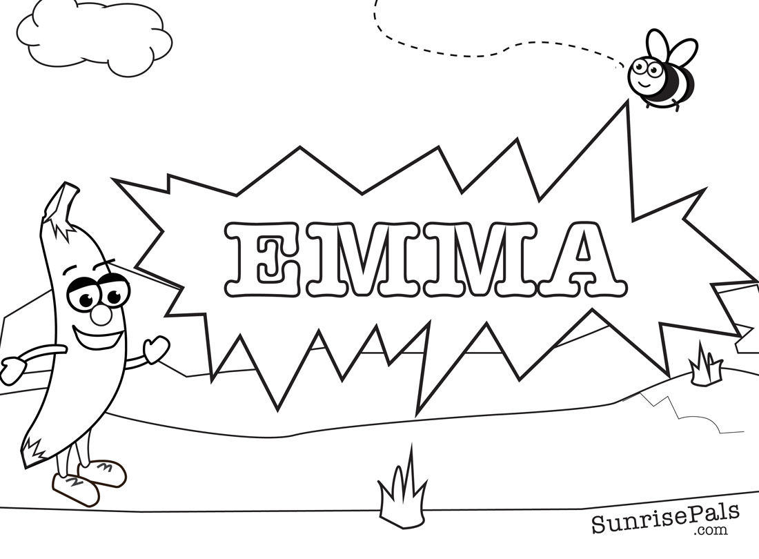 Coloring pages of the name hannah murderthestout for Names coloring pages