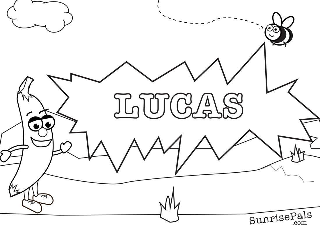 lucas bojanowski coloring pages - photo#10