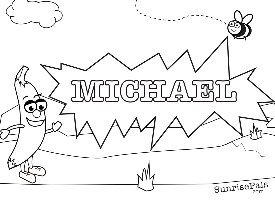 michael name coloring pages - photo#6